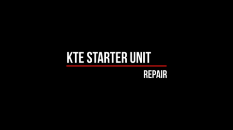 Repair of KTE starter unit